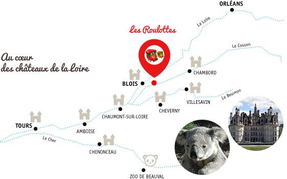 Les roulottes, au cœur des châteaux de la Loire, gite Chambord